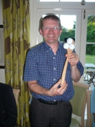 Harley Bell, proud winner of the wooden spoon